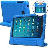 Funda para Samsung Galaxy Tab 3 Lite 7.0, E Lite 7.0, [Asa de gran tamaño 2 en 1: para llevar y como soporte] La funda COOPER DYNAMO para niños extra resistente a prueba de caídas fabricada en EVA con asa, soporte y protector de pantalla – Niños, niñas, adultos, mayores Azul