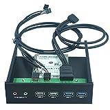 Dshot® 5.25 Inch Front Panel USB Hub internal Bracket Hub Combo - With 2x USB 3.0 Ports & 2x USB 2.0 Ports & 1x HD AUDIO port