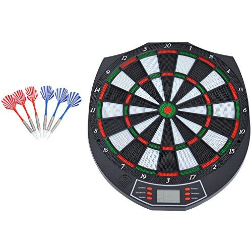 Homcom Diana electrónica digital 18 juegos y 159 variantes + 6 dardos de punta plastica