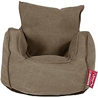 Preisvergleich für Lounge Pug®, Kindersessel Sitzsack, Sitzsack Kinder, Stonewashed-Stoff Erde