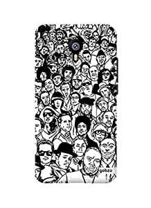 Gobzu Printed Hard Case Back Cover for Meizu M2 Note - Crowd