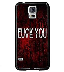 Fuson Love Red Pattern Back Case Cover for SAMSUNG GALAXY S5 - D3703