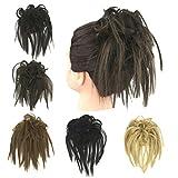 Prettywit Hairpieces Curly extension accessori per donne messy Dish Hair Bun  Updo estensioni capelli ciambella Chignons d96e1f36131f