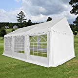 XINGLIEU Pavillon Pavillon Gartenzelt PVC 3x6m weiß Pergola Bespannung Material: Gewebe (500g/m2) und Stahl verzinkt
