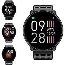 Montre Connectée, LIFEBEE Bluetooth Smartwatch Bracelet Sport Montre Intelligente Écran Couleur TFT 1,3 Pouces Étanche Podomètre, Sommeil, Cardiofréquencemètre pour iOS Android iPhone Homme Femme