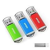 Meinami 3er Pack 8GB USB Stick USB 2.0 Rot, Blau, Grün