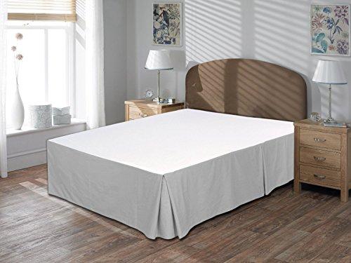 """Comodidad beddings 1pieza Cubre canapé 26""""Drop Longitud de 600Hilos Euro Rey IKEA tamaño 100% algodón Egipcio sólido, Plateado, Euro KingIKEA"""