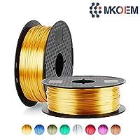 MKOEM Silk Color PLA Filament 1.75mm, Silky Shiny 3D Printer Filament for 3D Printer and 3D Pen, 1kg 1 Spool