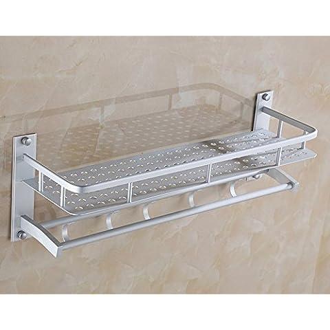 FEI&S espacio rack de aluminio wc toallas toallas de baño tres capas de admisión