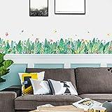 Stickers Muraux Herbe Fleur Chambre Chambre Décoration Chaude Salon Couloir Coin Taille Ligne Plinthe Autocollant