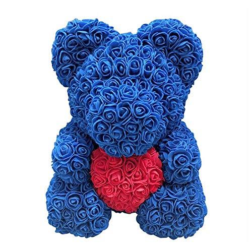 Ours de Rose Rouge pour Toujours Rose Ours en Peluche Fleur Artificielle Rose Anniversaire Noël Saint Valentin Creative Cadeau d'anniversaire en Peluche Poupée Décoration