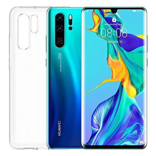 """Huawei P30 Pro (Aurora) più cover trasparente, 8GB RAM, memoria 128 GB, Display 6.47"""" FHD+, Quadrupla fotocamera posteriore per effetti Bokeh avanzati, fotocamera anteriore 32 Mpx HDR+"""