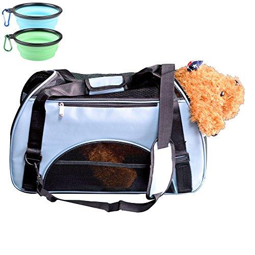 HUNDE TRANSPORTBOX HUNDEBOX Fluggesellschaft Genehmigt Haustier Tragetasche Kleintiere Box für Hunde Katzen Tragetasche Pet Travel tragbare Tasche Reise Trägerkäfig Durch HG_Lifestyles