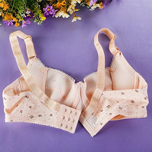 La Cabina Brassière d'Allaitement Soutien Gorge Maternité -Soutien Gorge Sport Push Up-Sous-vêtements Maternité pour Femme Beige