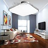 VINGO 36W LED Deckenleuchte 3240lm, 6500K, kaltweiß, 50.000 Std Lebensdauer, LED Deckenlampe, Wand- Deckenleuchte im Wohnzimmer