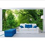 Personalice el papel tapiz para paredes. Papel tapiz estereoscópico 3 d. Bosque fresco mural de la pared papel tapiz papeles de pared decoración para el hogar-400x280cm