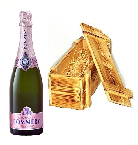 Pommery Rosé Champagner Brut in Holzkiste geflammt 12{bc66577d66001747f1c78881df0ff671fa017f88a25063361510621a990150df} 0,75l Flasche