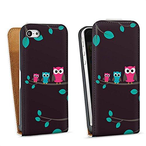 Apple iPhone 4 Housse Étui Silicone Coque Protection Hibous Mignon Forêt Sac Downflip blanc