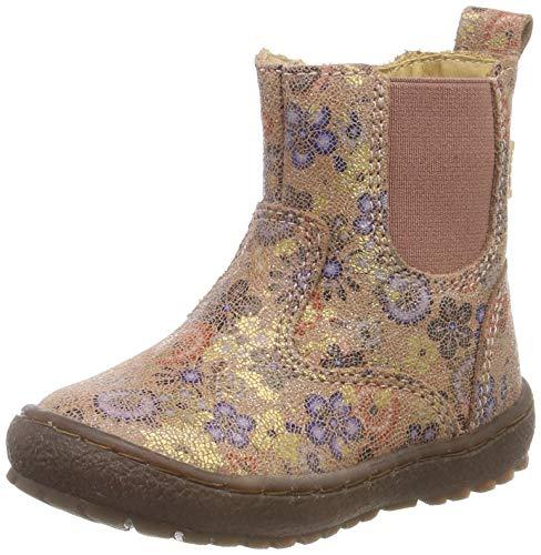 Bisgaard Mädchen Ebba Chelsea Boots, Beige (Beige Flowers 3015), 29 EU