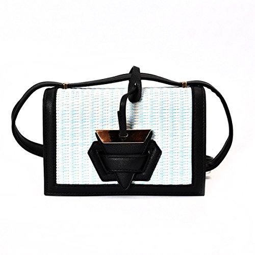 Yy.f Neue Taschen Mode-Taschen Stroh Wild Gestreifte Schulterbeutel Kurierbeutel Handtasche Multicolor-Taschen,C-20*7*13cm (Handtasche Leder-gestreifte)