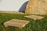 Evoy Wegeplatten - Trittstufen aus Holz - Holzfliesen - Topfuntersetzer - Untersetzer **