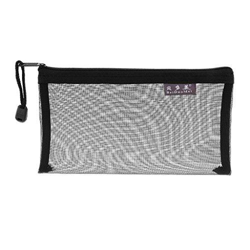 Veranstalter Tasche Portable Raumspeicherfederbeutel Transparent Mesh - Schwarz -
