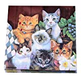 Gedruckte Katzen Papierservietten Tea Party Shower Luncheon Servietten