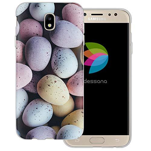 dessana Candy Süßigkeiten Transparente Schutzhülle Handy Case Cover Tasche für Samsung Galaxy J5 (2017) Oster Eier