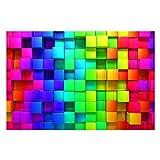 Bilderwelten Vliestapete 3D Optik Tapete - 3D Würfel - 3D Fototapete Breit Vlies Tapete Wandtapete Wandbild Foto 3D Fototapete, Größe HxB: 255cm x 384cm