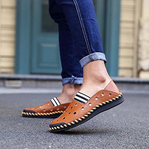 ZXCV Chaussures de plein air Chaussures en cuir pour tenues en cuir Chaussures de sport Chaussures décontractées Chaussures d'extérieur ( Couleur : Marron , taille : 41 ) Marron