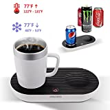 V-joy® Wärmer & Kühler Desktop Intelligente Tasse, 2-in-1 Desktop Kühler wärmer Tasse Kaffee Becher für Innenministerium und Persönliche Gesundheitsvorsorge (Intelligente Tasse Set)