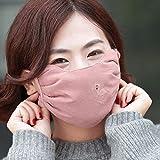 Xiumin Mund Maske,Herbst- und Wintermodelle für Frauen erhöhen die atmungsaktive Maske aus dickem, warmem und kaltem Baumwollfutter, tiefes Pulver