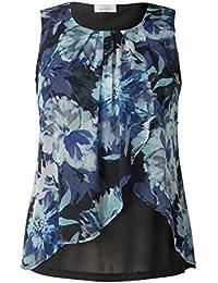 C&A Damen Sommerbluse Große Größen XXL Übergröße Urlaub Strand ärmellos blau