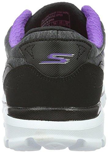 Skechers Damen Go Walk 3Compete Sneakers Schwarz (Bkpr)