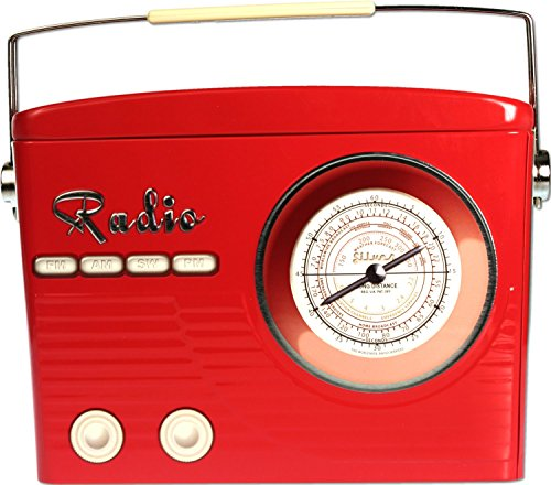 eko Box Radio 22 cm x 17 cm rot, türkis, beige (rot) ()