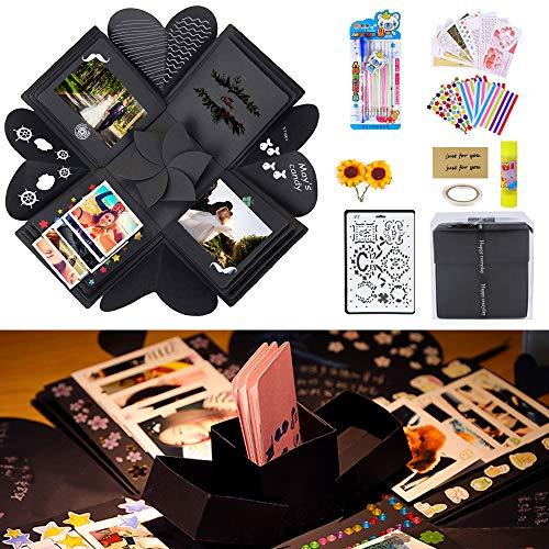 Chengtao Überraschung Box, DIY Geschenkbox Explosions Box Handgemachtes DIY Faltendes Fotoalbum, Geburtstag Jahrestag Valentine Hochzeit Kreative Geschenk, für Heiratsantrag, Hochzeit, Muttertag