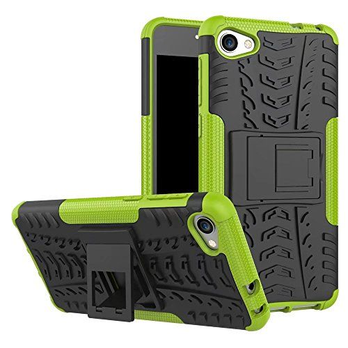 YHUISEN Alcatel A5 LED Case, Hyun Pattern Dual Layer Hybrid Armor Kickstand 2 in 1 Shockproof Case Cover für Alcatel A5 LED ( Color : Blue ) Green