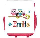 wolga-kreativ Rucksack Eule Eulenfamilie Kinderrucksack Kindergartenrucksack mit Name Eule