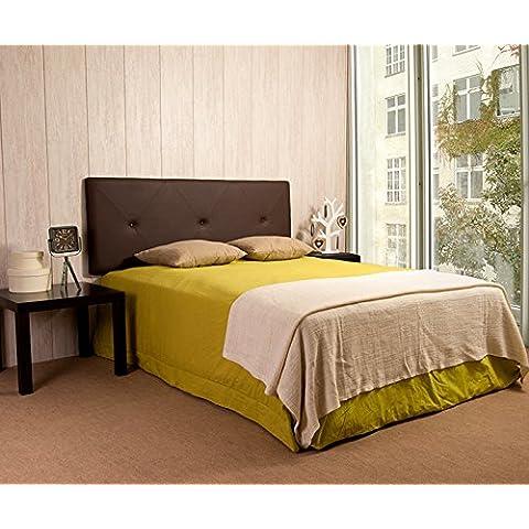 Cabecero Luxury Eco Piel Capitone (camas de 160/180, Chocolate)
