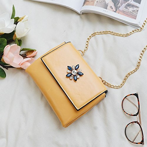 Weibliche art und weiseweide-nagelhand kleine quadratische beutelweide-schulterbeutel einfaches diagonales paket Braun