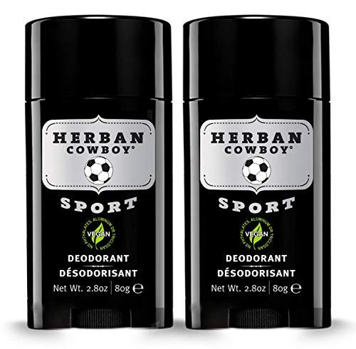 Herban Cowboy Maximaler Schutz Deodorant, Sport, 2,8 Unzen (Paket 2) (Alkoholfreie Deodorant)