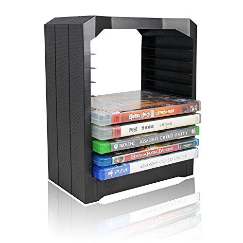 Demiawaking storage tower games e blu ray multifunzionale universale per xbox one,ps4 torre porta per cd, dvd, disco xbox one,ps4
