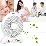 #10: MSE Usb Fan Mini Electric Personal Fans Led Portable Rechargeable Desktop Fan Cooling Operated Fan With Battery(colour as per availability.. blue, green, pink, orange, black)