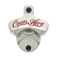 IGGI Retro Wall Mounted Beer Bottle Opener, Silver