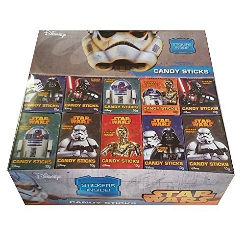 Price comparison product image Star Wars Disney - Candy Sticks & Sticker Wholesale Box (60 x Packs)