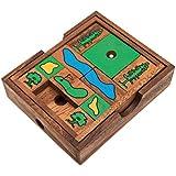 Golf Game, ein Schiebespiel, Holzspiel, Denkspiel, Knobelspiel, Geduldspiel aus Holz