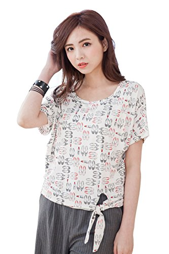 bearsland - T-Shirt à manches longues - Femme Multicolore - Gray/White