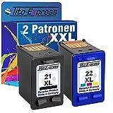 PlatinumSerie® Farbset 2x Tinten-Patrone für HP-21 XL & HP-22 XL Deskjet D1560 D1330 D1341 D1360 D1400 D1420 D1430 D1445 D1450