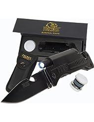 falkes Couteau pliant ure1de l'Avent avec six fonctions pratiques–Arme Gese tzfreies Couteau d'extérieur pour le camping, professionnelle et Hobby–Ultra Aiguiseur et étui