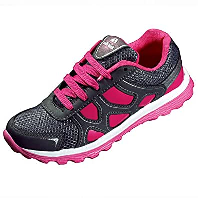 Adi-Bok Pink Synthetic Leather Running Shoes For Women_9